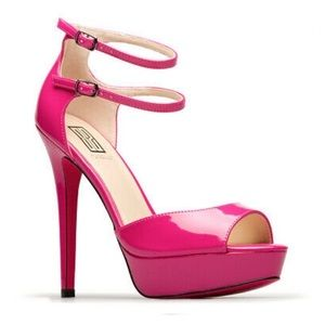 ShoeDazzle Signature Cosima Pink Peep Toe Pumps